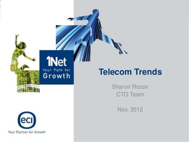 Telecom Trends  Sharon Rozov   CTO Team    Nov. 2012