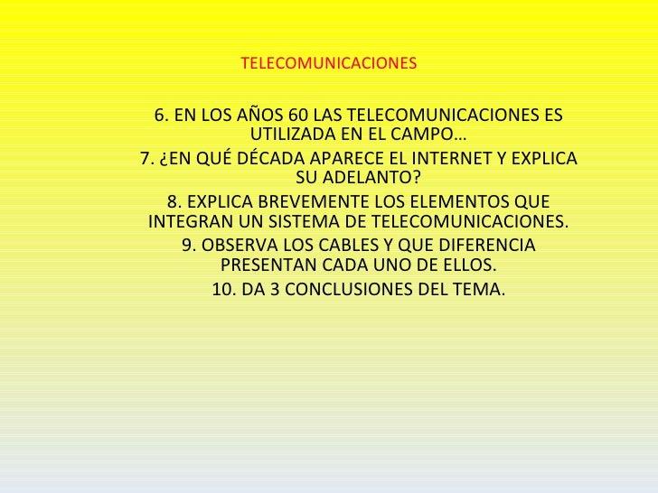Telecomunicaciones Slide 2
