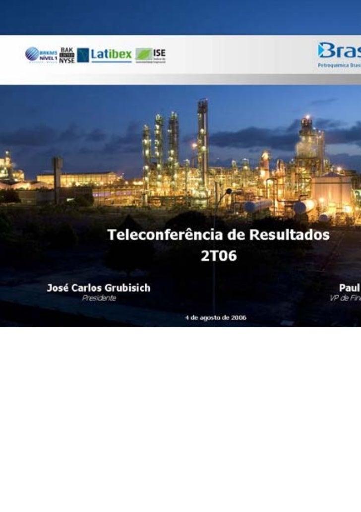 Teleconferência de resultados 2 t06
