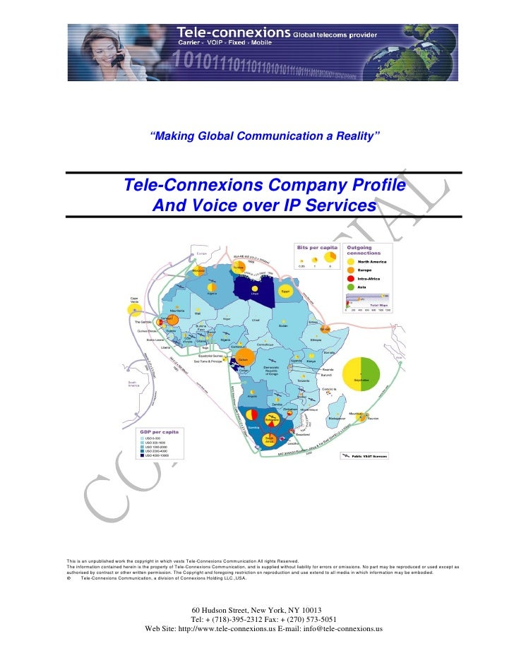 """""""Making Global Communication a Reality""""                              Tele-Connexions Company Profile                      ..."""