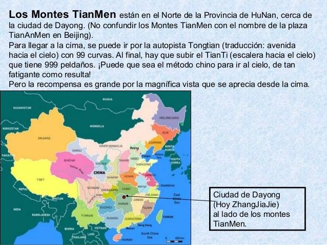 Ciudad de Dayong (Hoy ZhangJiaJie) al lado de los montes TianMen. Los Montes TianMen están en el Norte de la Provincia de ...
