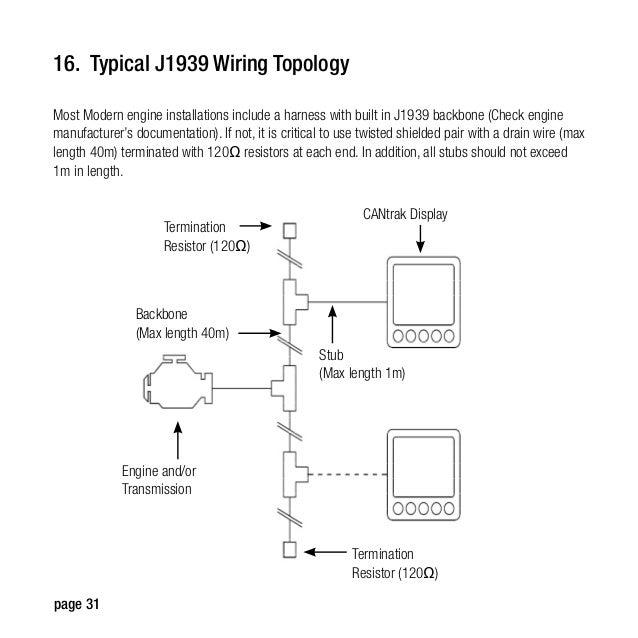 teleflex manual 32 16 typical j1939 wiring