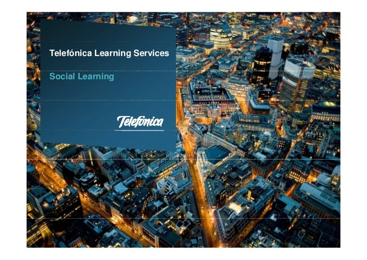 Telefónica Learning ServicesSocial Learning