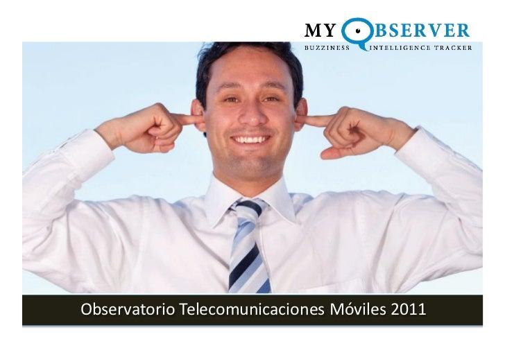 Observatorio Telecomunicaciones Móviles 2011