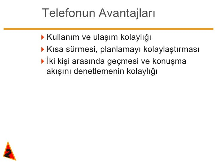 Telefonda iletişim teknikleri Slide 2