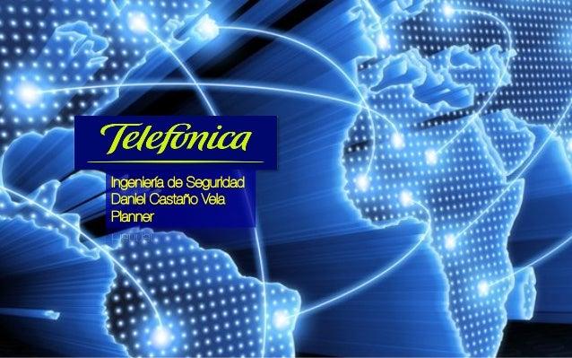 Ingeniería de Seguridad  Daniel Castaño Vela  Planner
