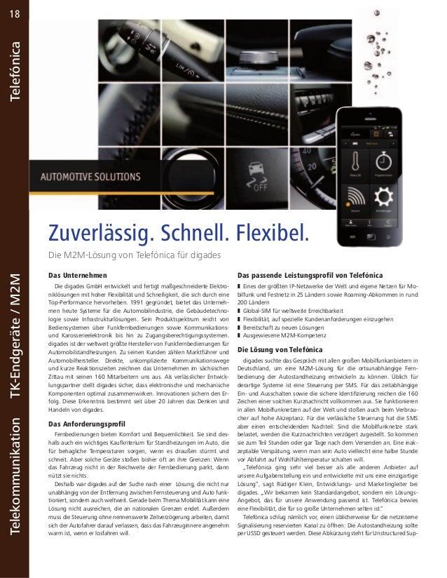 18  Telekommunikation TK-Endgeräte / M2M Telefónica  Zuverlässig. Schnell. Flexibel.  Die M2M-Lösung von Telefónica für di...