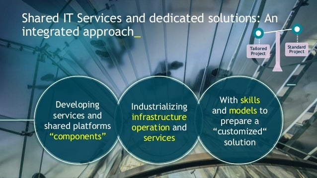 """Shared IT Services and dedicated solutions: An  integrated approach_  Developing  services and  shared platforms  """"compone..."""