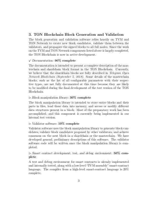 Telegram open network development status (september 5, 2018) Slide 3