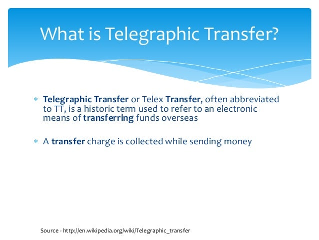 What Is A Wire Transfer   Telegraphic Wire Transfer