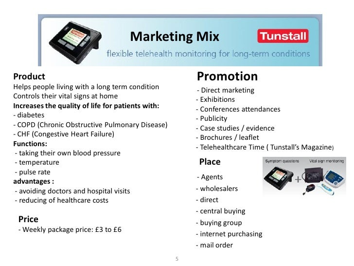 Free marketing plan sample of telehealth services, Tunstall, by www.m…