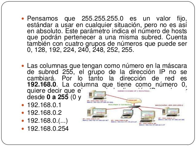  Puerta de enlace predeterminada: Nuestra red es192.168.0., por tanto si los dispositivos de esa redsólo quieren comunica...