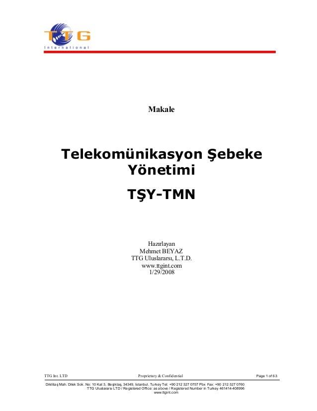 TTG Int. LTD Proprietary & Confidential Page 1 of 63 DikilitaşMah. Dilek Sok. No: 10 Kat 3, Beşiktaş, 34349, Istanbul, Tur...