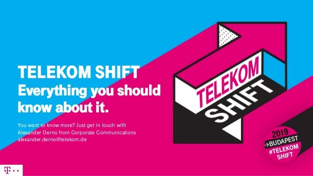 TELEKOM SHIFT Everything you should know about it. You want to know more? Just get in touch with Alexander Derno from Corp...
