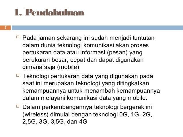 Telekomunikasi bergerak (mobile) Slide 2