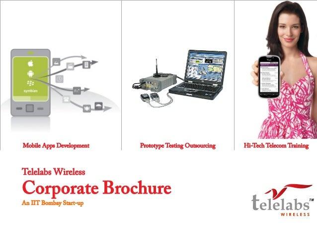 Mobile Apps Development  Prototype Testing Outsourcing  Hi-Tech Telecom Training  Telelabs Wireless  Corporate Brochure An...