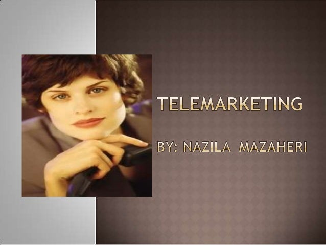  Telemarketing is the most interactive marketing medium available. Telemarketing allows you to answer your prospects ques...