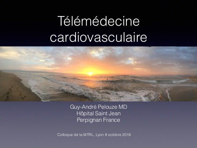 Télémédecine cardiovasculaire Guy-André Pelouze MD Hôpital Saint Jean Perpignan France Colloque de la MTRL, Lyon 8 octobre...