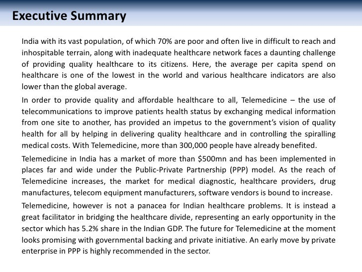 Telemedicine: An opportunity in Healthcare in India Slide 2