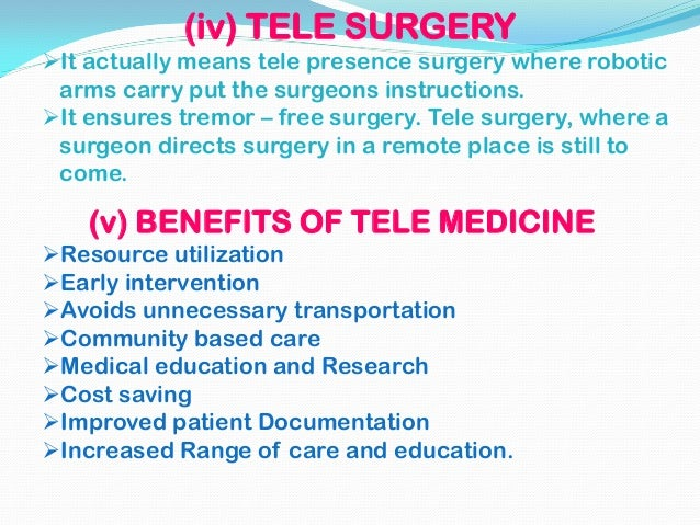 application of telemedicine in surgery