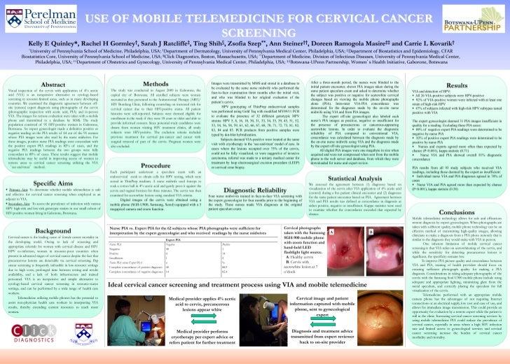 Use of Mobile Telemedicine for Cervical Cancer Screening