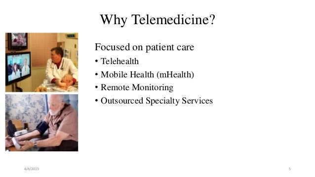 telemedicine medicine and health care Telemedicine refers to the provision of remote clinical services, via real-time two-way communication between the patient and the healthcare provider, using electronic audio and visual means in primary care, telemedicine is usually in the form of phone calls, where the patient seeks the doctor's .