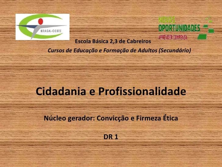 Escola Básica 2,3 de Cabreiros            Cursos de Educação e Formação de Adultos (Secundário)Cidadania e Profissionali...