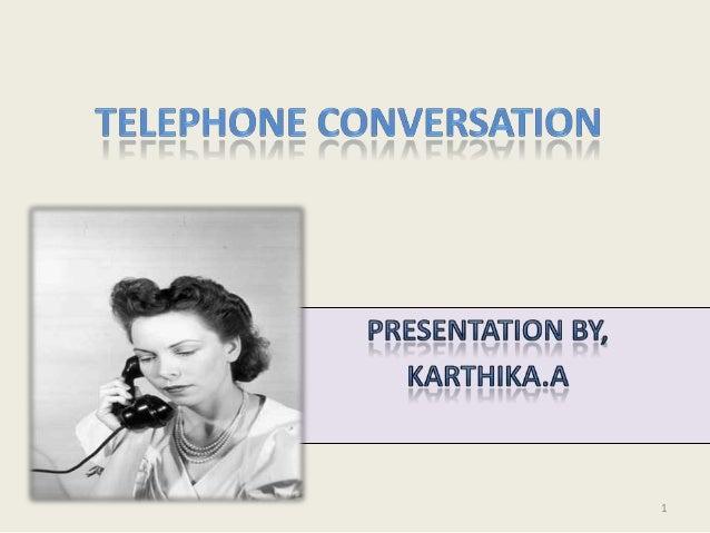 Telephone conversation Slide 1