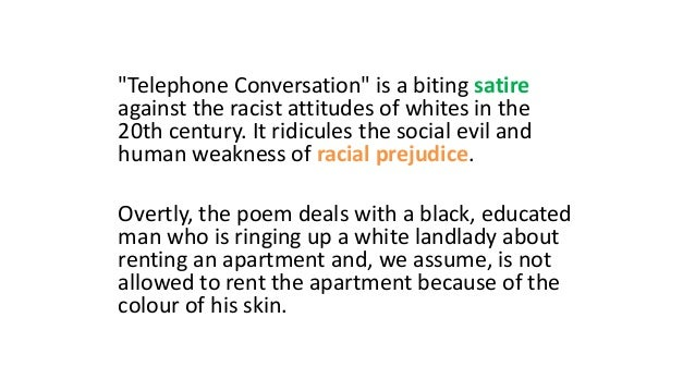 telephone conversation theme