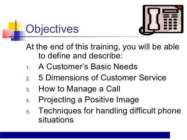 Telephone customer service training