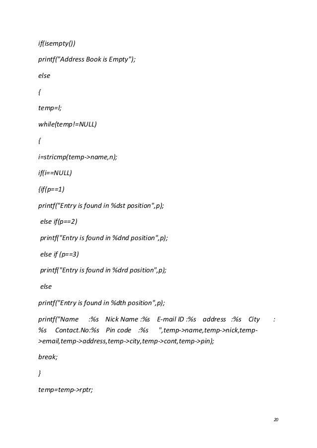 telephone directory sample