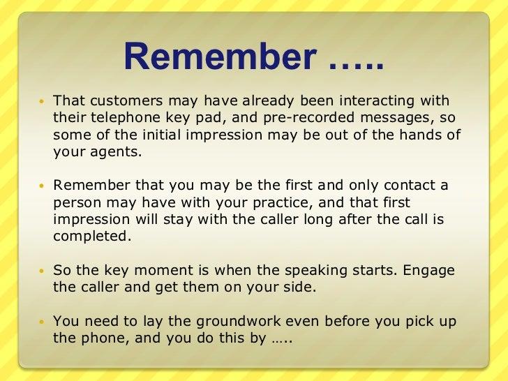 Practice Telephone Etiquette Slide 3