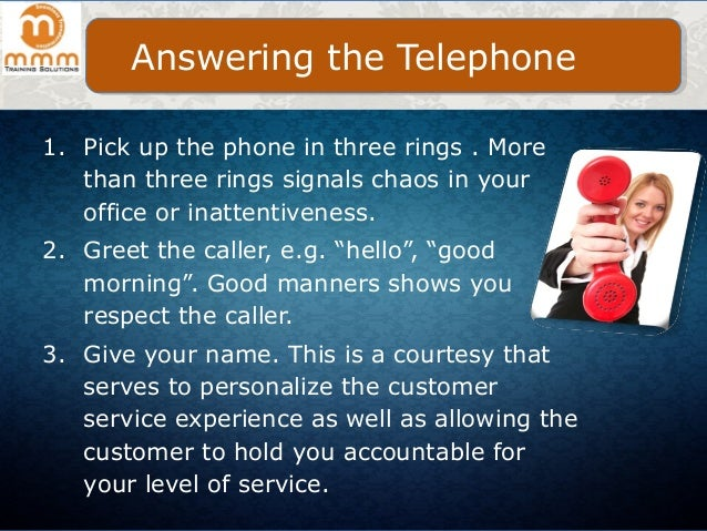 Telephone etiquette for professionals at workplace m4hsunfo