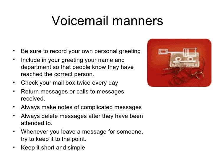 Telephone etiquettes voicemail m4hsunfo Images