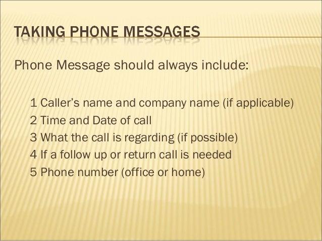 Dating phone call etiquette