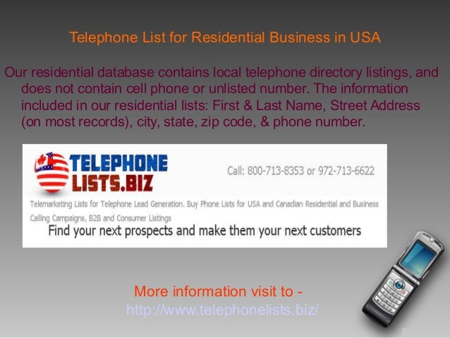 business phone list