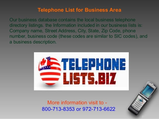 Telephone Number Lists For Telemarketing Usa Canadian Business Re - Area code 972 usa