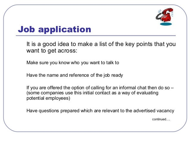 skills in applying a job