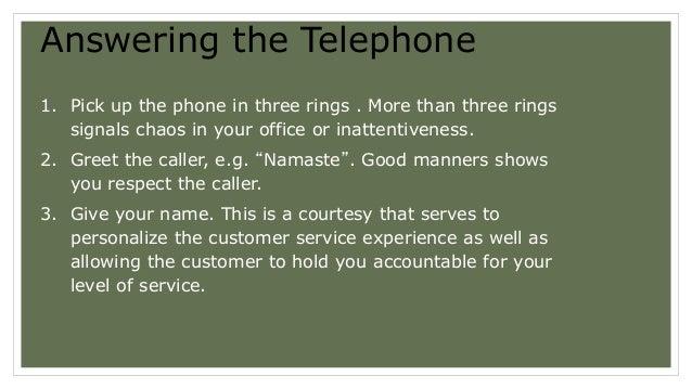 Telephone skills & etiquettes