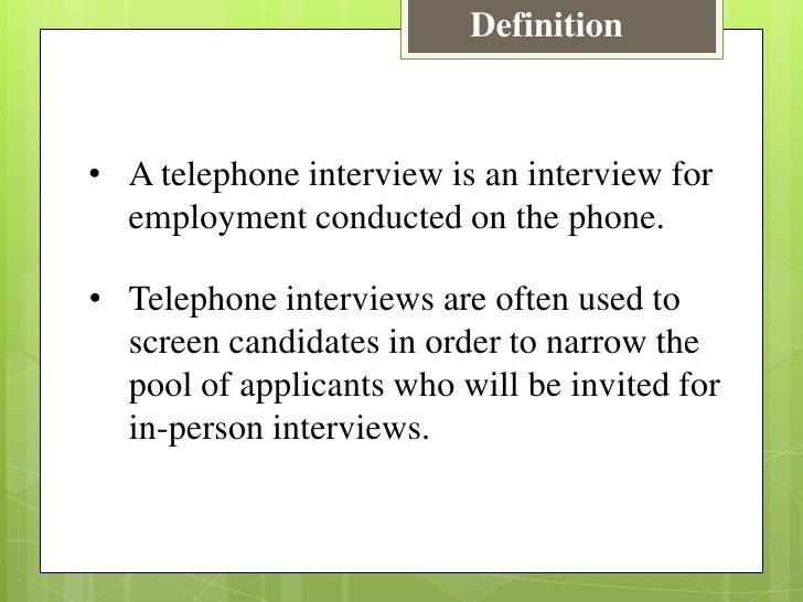 Telephonic interview definition stopboris Gallery