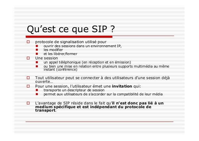 Fonctions de SIP possède cinq grandes fonctions pour établir et terminer des communications multimédia Adresse de l'utilis...