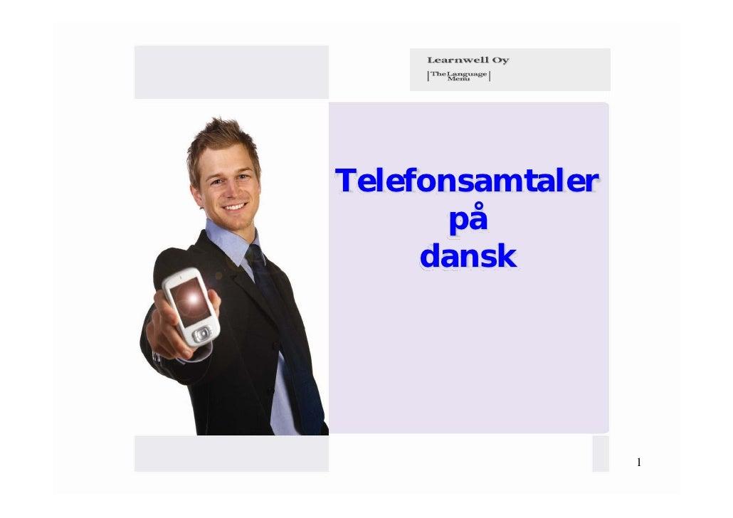 Telefonsamtaler       på     dansk                  1