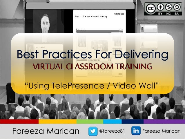 """Using TelePresence / Video Wall"" Fareeza Marican @fareeza81 Fareeza Marican"