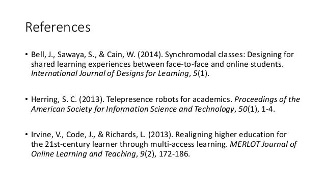 Telepresence Robots: Applications and Issues in Higher Education
