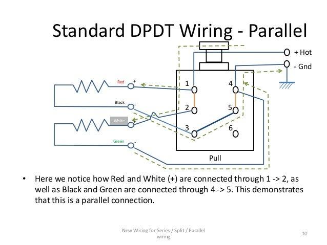 series parallel wiring diagram for 4 conductor humbucker pickups rh slideshare net wiring diagram series vs parallel battery wiring diagram series parallel