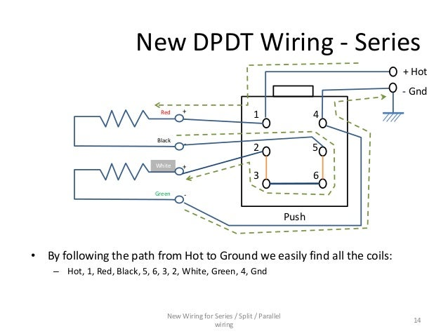series parallel wiring diagram for 4 conductor humbucker pickups rh slideshare net