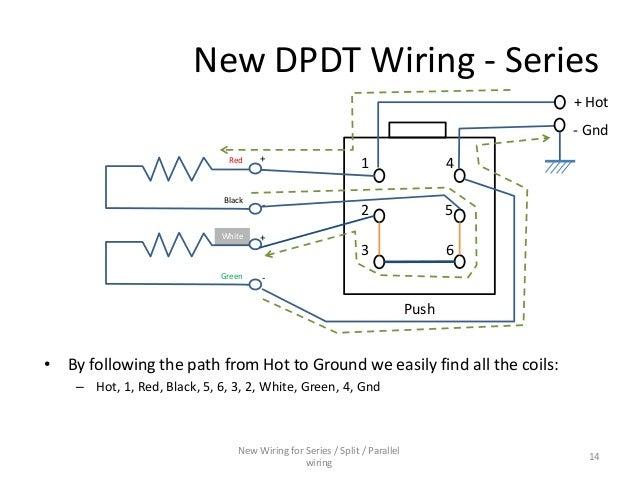 series parallel wiring diagram for 4 conductor humbucker pickups rh slideshare net