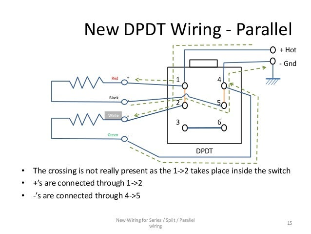 series parallel wiring diagram for 4 conductor humbucker pickups parallel wiring 14 15 new dpdt