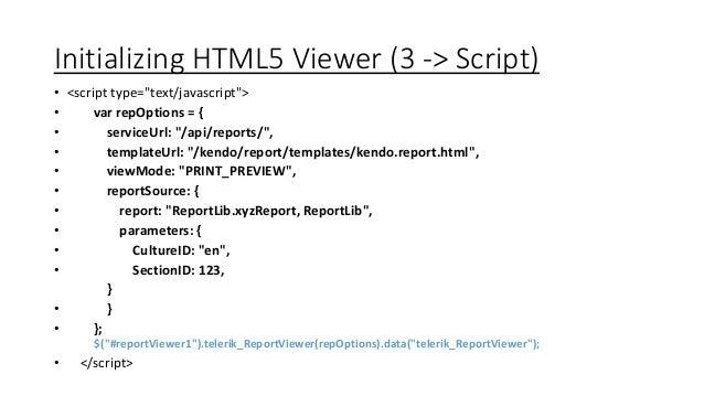 Telerik Reporting for HTML 5 Apps