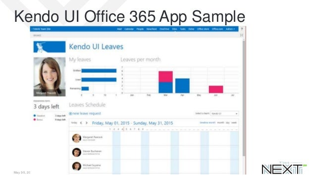Telerik Kendo UI in Office 365